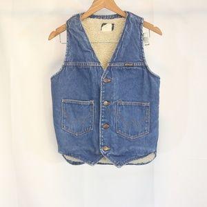 Wrangler Men's S Vest Blue Jean Denim